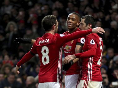 Anthony Martial and Juan Mata scored as Manchester United beat Watford in the Premier League. AP