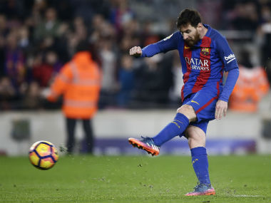 Lionel Messi scored a late penalty to secure a crucial win over Leganes. AP