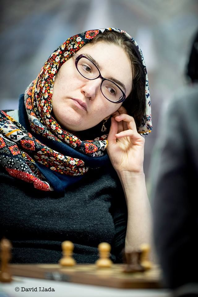 Georgian number one Nana Dzagnidze awaited Harika in the quarter-finals. Image courtesy: David Llada