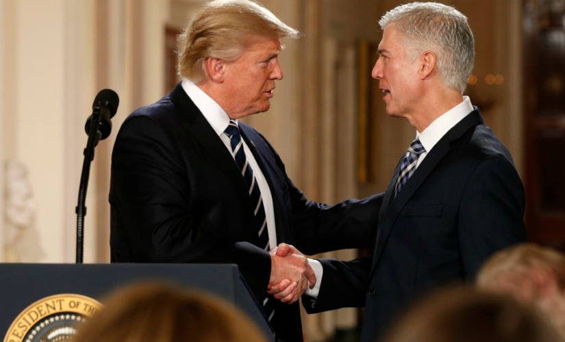 Donald Trump with Neil Gorsuch. Reuters