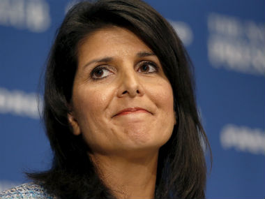 United States Ambassador to the United Nations Nikki Haley. Reuters