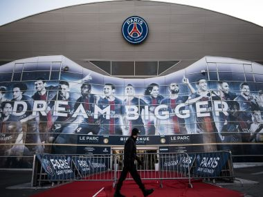 Paris Saint-Germain's Parc des Princes stadium on the eve of their match against FC Barcelona. AFP