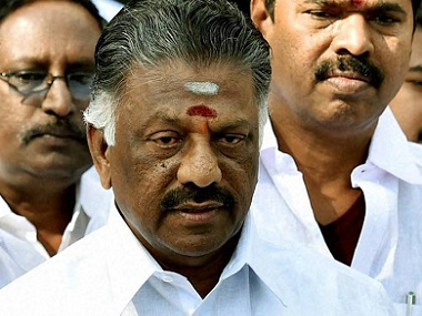 O Panneerselvam. File photo. PTI