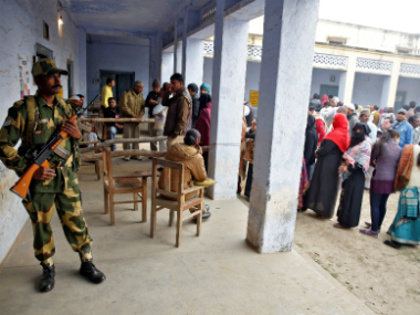 People queue to vote during the state assembly election in Uttar Pradesh. Reuters