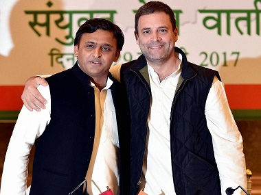 Samajwadi Party and Congress have announced a tie-up for Uttar Pradesh Assembly polls. PTI