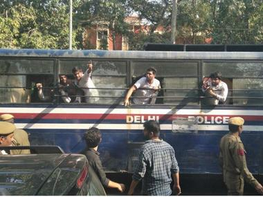 File image of Ramjas College protests. News18
