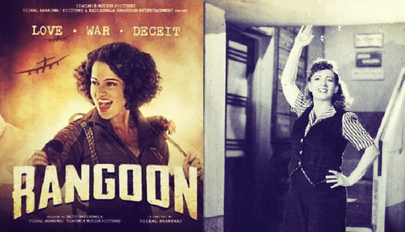 Kangana Ranaut in Rangoon and Fearless Nadia in 11 o'clock. (Image courtesy: Creative Commons)