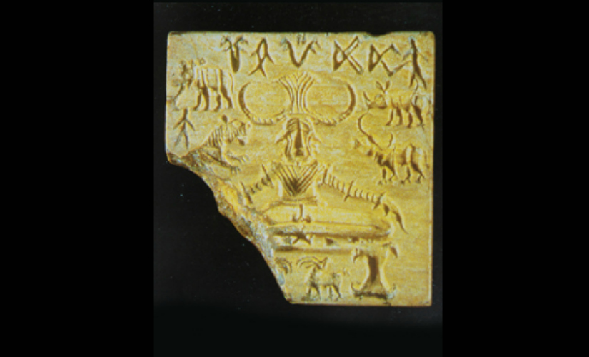 Seal 420 or the Pashupati Seal - Mohenjodaro. Image Courtesy: National Museum