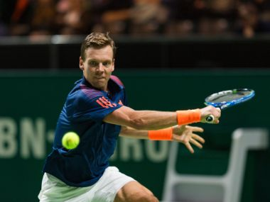 Fourth-seeded Tomas Berdych had a surprisingly tough first round. Image courtesy: Twitter/@abnamrowtt