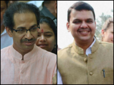 Uddhav Thackeray (left) and Devendra Fadnavis sparred over farmers loan waiver.