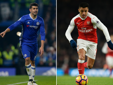 Diego Costa and Alexis Sanchez are the two key men for Chelsea and Arsenal respectively. Reuters