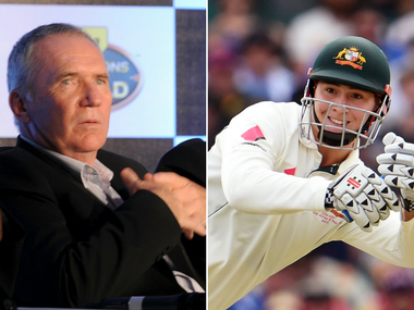 Allan Border and Matt Renshaw. AFP