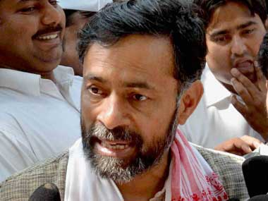 File image of Swaraj India's Yogendra Yadav. PTI