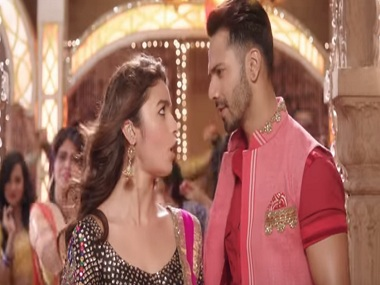 Alia Bhatt and Varun Dhawan in a still from Badrinath Ki Dulhania. YouTube