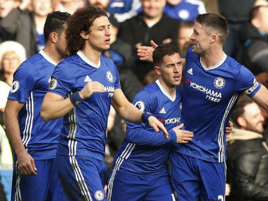 Chelsea are four points clear of second-placed Tottenham at the top of the Premier League table. Reuters