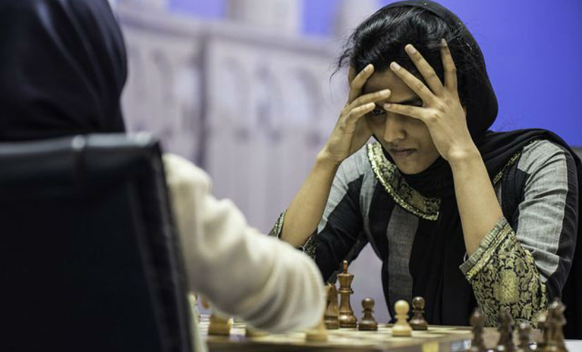 Harika had great difficulty in overcoming her first round opponent Bangladeshi Shamima Akhtar Liza, but in the end she managed to qualify to the second round (Image courtesy: David Llada)