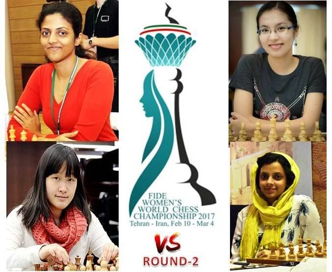 In the second round Harika was pitted against Kazakhstan's Dinara Saduakassova and Padmini took on China's Zhao Xue.