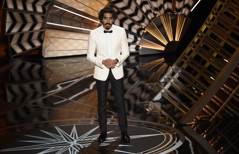 """Dev Patel introduces a performance for best original song for """"The Empty Chair"""" from """"Jim: The James Foley Story"""" at the Oscars on Sunday, Feb. 26, 2017, at the Dolby Theatre in Los Angeles. (Photo by Chris Pizzello/Invision/AP)"""