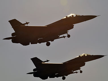 A file image of F-16 aircraft. AFP