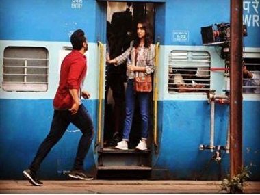 Arjun Kapoor and Shraddha Kapoor in a still from the shooting of Half Girlfriend. Twitter