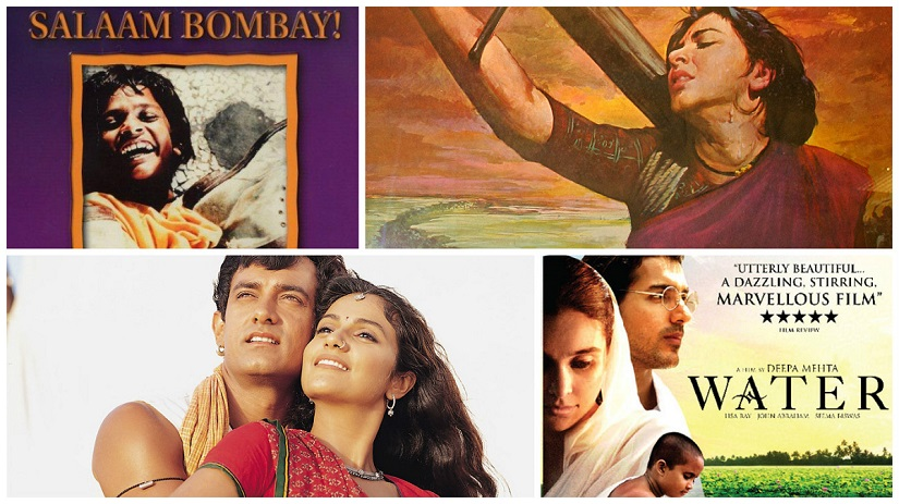 (Clockwise from top left) Salaam Bombay, Mother India, Water, Lagaan have all made it to the final five of the Best Foreign Language Film category at the Oscars