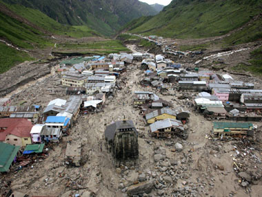 The cloudburst of 2013 flattened large parts of Kedarnath. PTI