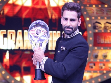 Manveer Gurjar with the Bigg Boss 10 winner's trophy