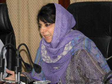 A file photo chief minister of Jammu and Kashmir Mehbooba Mufti. PTI