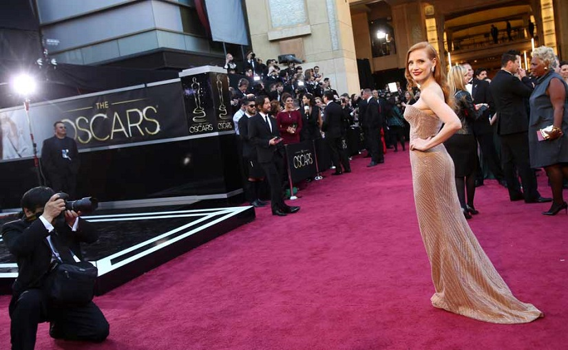 Ap/File photo of actress Jessica Chastain on the Oscars red carpet
