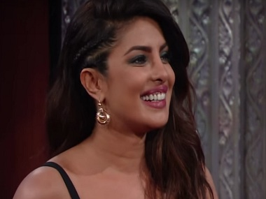 Priyanka Chopra in a still from The Late Show with Stephen Colbert. YouTube