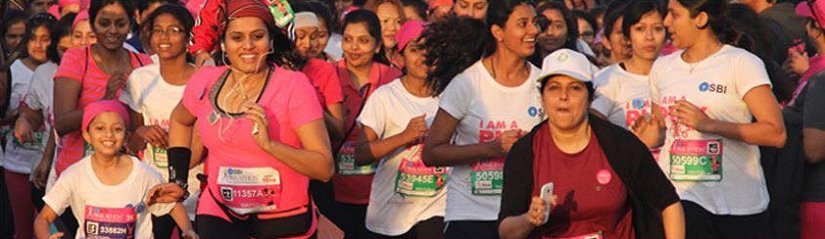 Runners at the Pinkathon 2017 in Bengaluru. Photo courtesy: Facebook