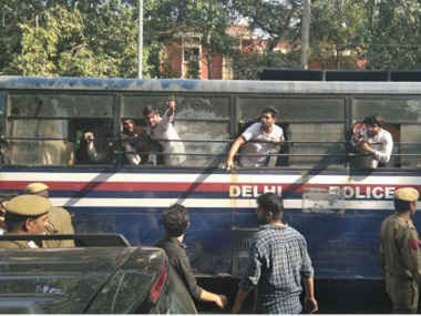 Violent clashes broke out in front of Delhi University's Ramjas College on Wednesday. Source: News18