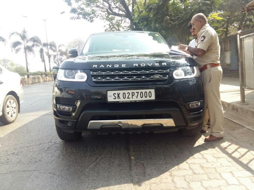 Danny Denzongpa's Range Rover which was seized by the RTO on Wednesday.