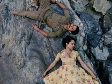 Kangana Ranaut, Shahid Kapoor in a still from Rangoon