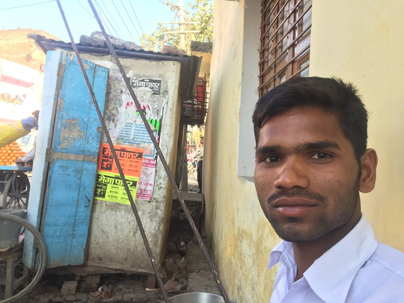 Ranjit will migrate to Delhi is his application to the UP Police does not work out. Photo courtesy Parth MN