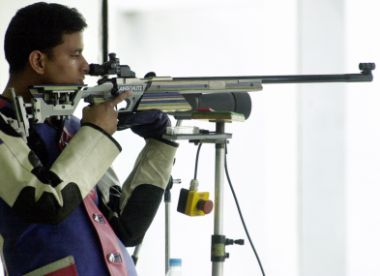 File photo of rifle shooter Sanjeev Rajput. AFP