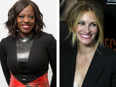 Viola Davis and Julia Roberts. Images courtesy: AP and Reuters