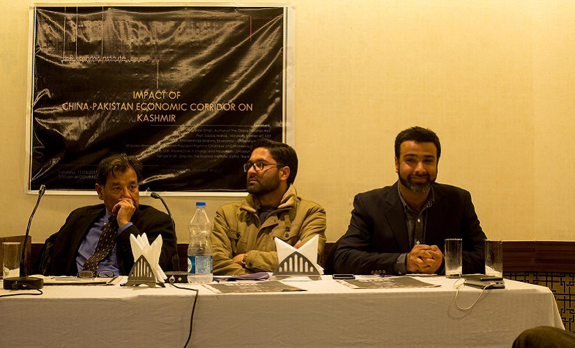 Experts discuss the impact of CPEC at a seminar organised by the Kashmir Institute in Srinagar. Firstpost/Sameer Yasir