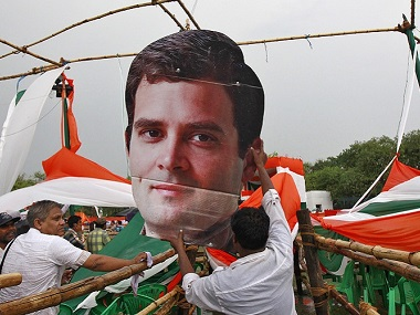 A poster of Congress vice president Rahul Gandhi. Reuters