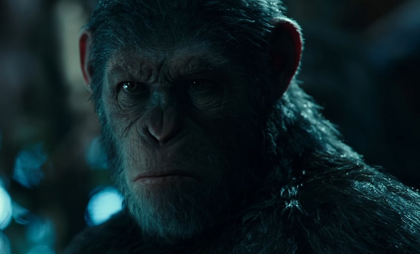 A still from War for the Planet of the Apes trailer. Youtube screengrab