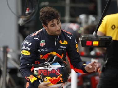 Daniel Ricciardo after crashing out of the qualifying session for the Australian Grand Prix. AP