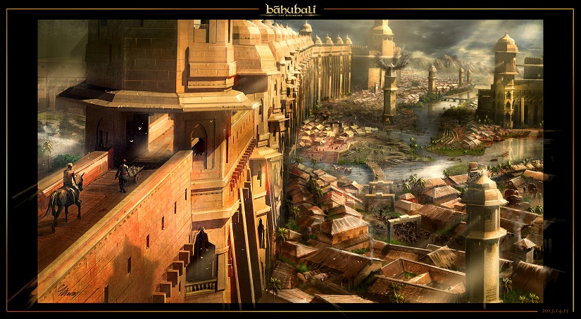 BAAHUBALI THE BEGINNING VISUAL SKETCH FALCON SHT 2 BY VISWANATH SUNDARAM