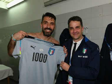 Gianluigi Buffon played his 1000th professional game against Alb Getty Images