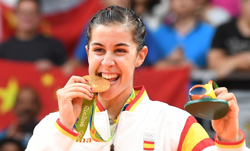 Spain's Carolina Marin. AFP