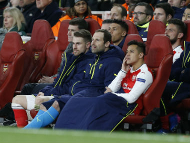 Petr Cech says Alexis Sanchez was not laughing after being substituted against Bayern Munich. AFP