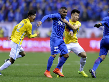 Carlos Tevez scored on his debut to guide Shanghai Shenhua to an easy win. AFP