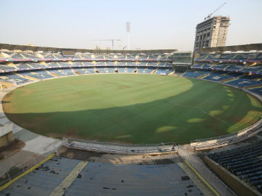 The Fifa delegation was impressed with the stadium's progress. Twitter: @IndianFootball