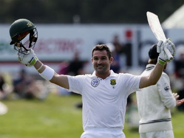 South Africa's Dean Elgar steadies the ship after Proteas lost wickets cheaply. AP