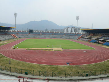 Fifa expressed satisfaction over the progress of the Indira Gandhi stadium in Guwahati. Twitter: @IndianFootball