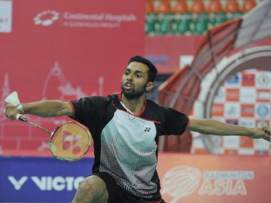 File phot of HS Prannoy. AFP
